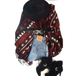 Jackets & Blazers - Aztec Poncho